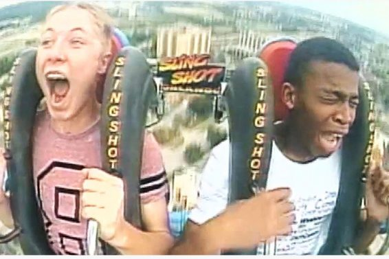 Teenager Passes Out On The Slingshot Three Times In A Row