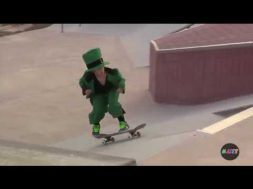 Leprechaun Skateboarding Fail