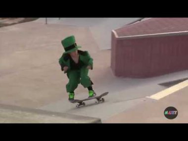 Leprechaun Skateboarding Fail