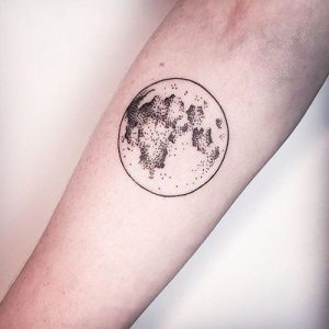 bad moon dot tattoo