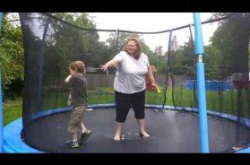 Boy Falls Through Trampoline Net